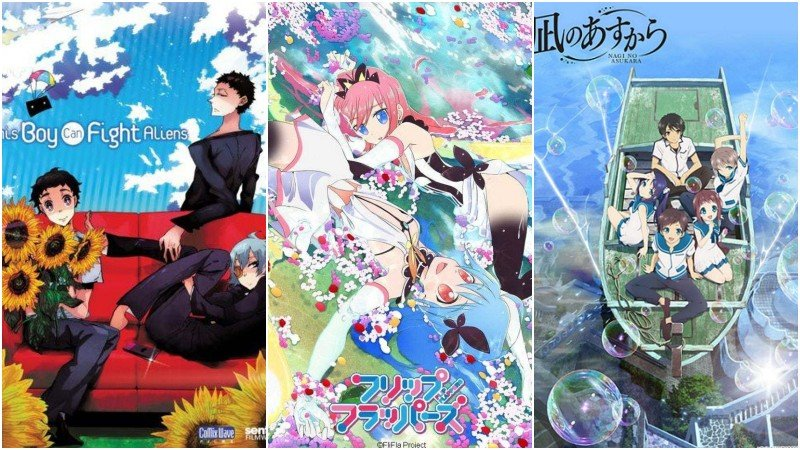 Animes with differentiated strokes and arts - nagi no asukara 8