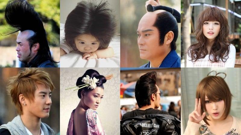 Các loại Anime tóc, kiểu tóc và Shapes - Nhật Bản