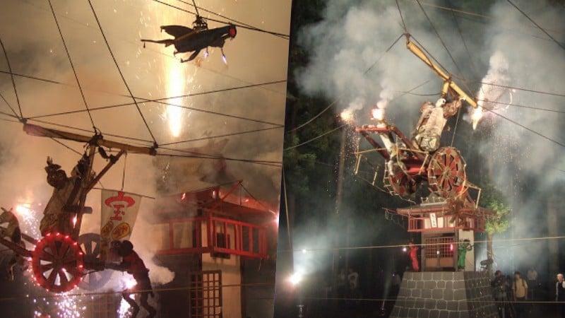 Tsunamibi - fogos de artifício com marionetes