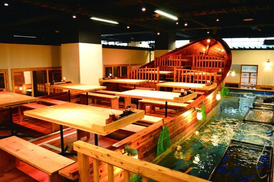 Zauo: restaurante em que você mesmo pesca a sua comida - zauo peixe restaurante