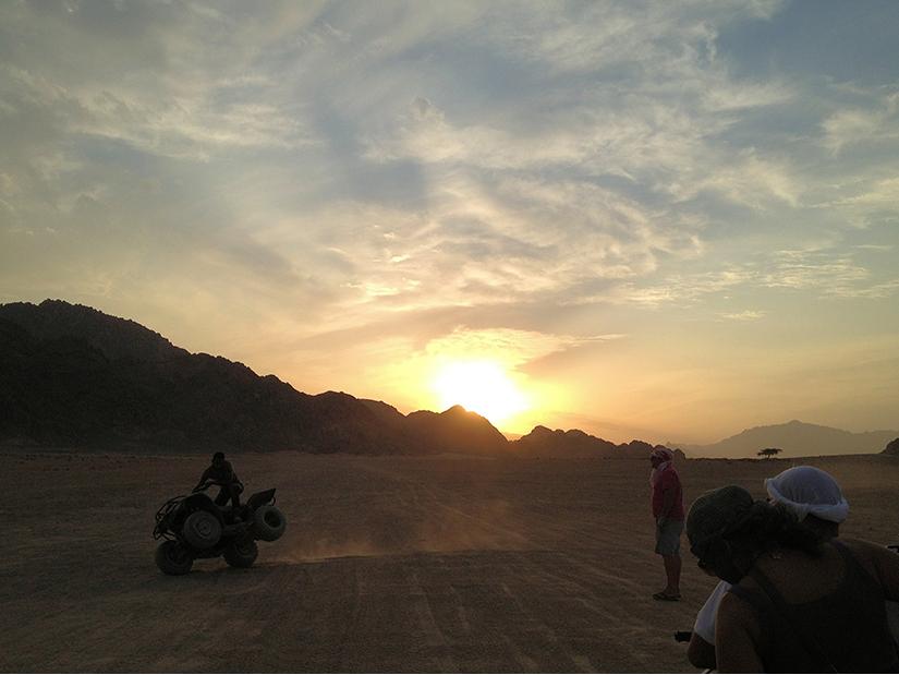 Quad Biking in the desert