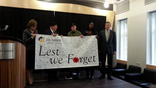A moment of silence at Humber College