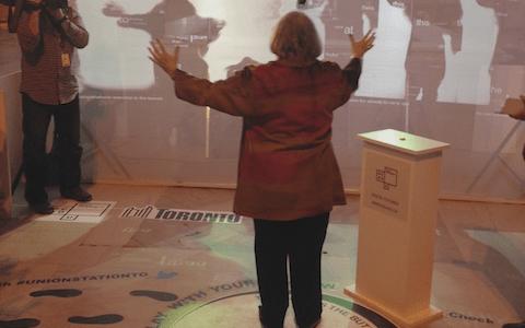 Art interaction captures Union Station memories