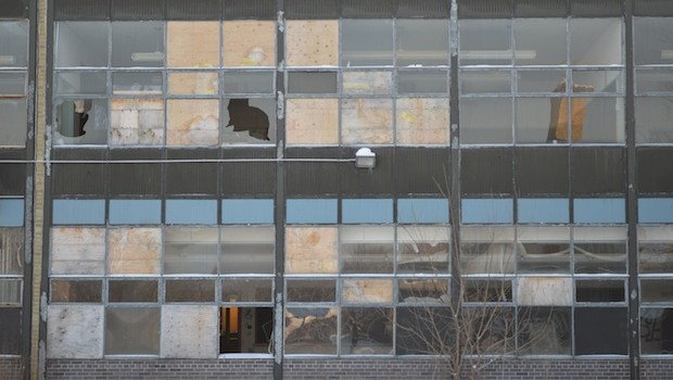 Stalled construction leaves school open to the curious