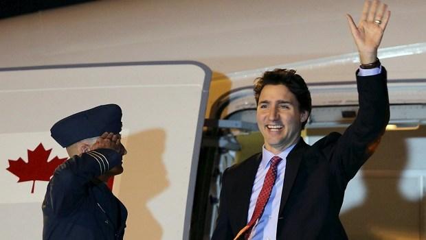 Prime Minister Trudeau Lands In Manila