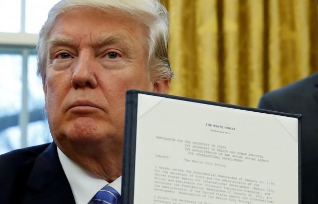 President Trump reinstates Mexico City Policy