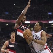 Toronto Raptors win third straight game beating the Trail Blazers