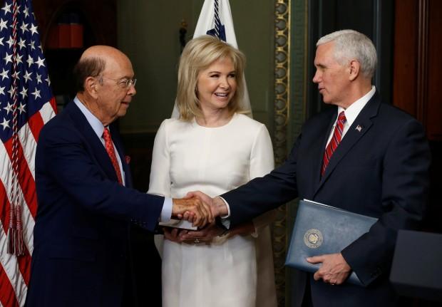 Wilbur Ross sworn in as U.S. secretary of commerce