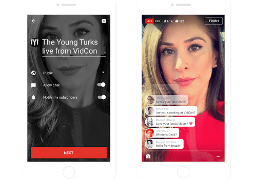 YouTube rolls out live streaming from mobile devices