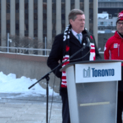 John Tory Raises Canadian Flag for 2018 Winter Olympic Games