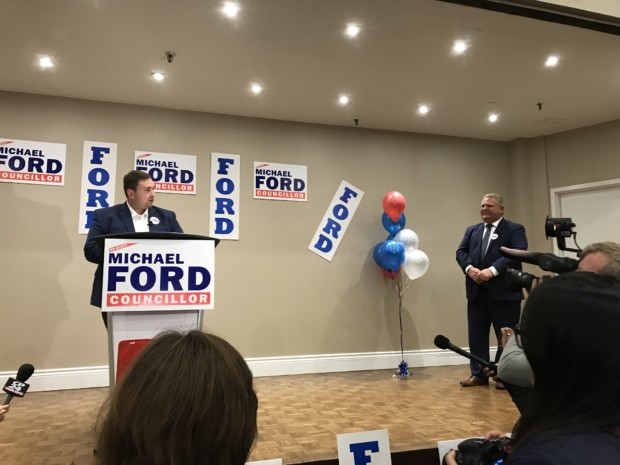 Premier crashes Michael Ford's election party