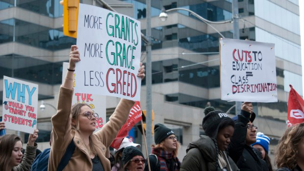 (Audio) IGNITE rallies at Queen's Park, talk financial aid for Humber students