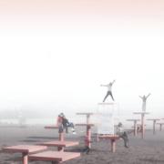 Humber College design students help celebrate a wintery beach