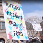 Parents rally at Queen's Park against provincial government changes to autism funding