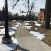 Snow job: winter filming comes to spring campus
