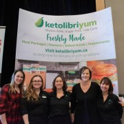 Celebrating the low-carb life at a keto diet event