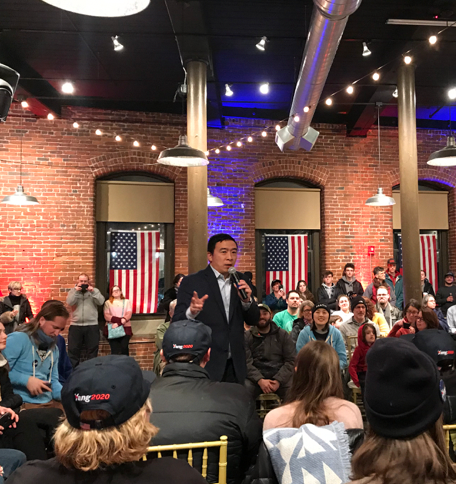 I followed Andrew Yang around for a day, so you don't have to