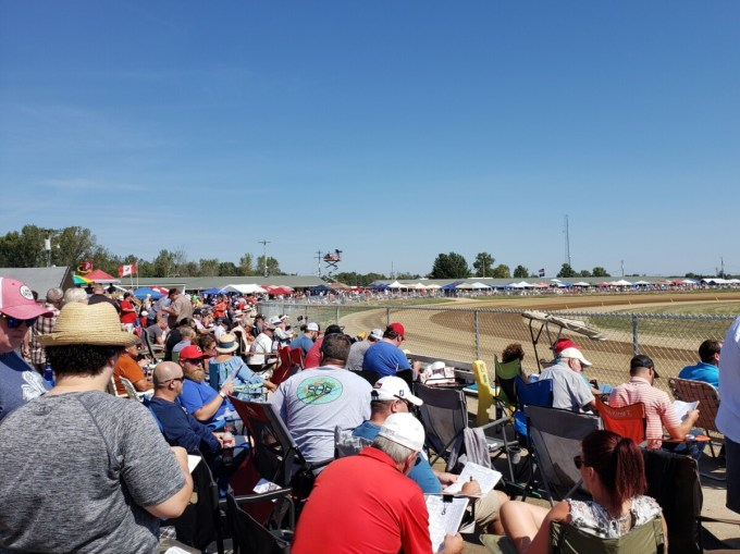 Fans packed together at the 2019 Little Brown Jug