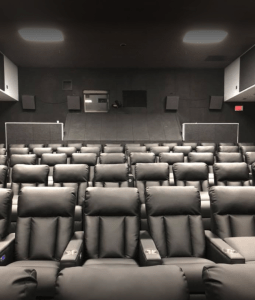 Imagine Cinemas' Market Square location has leather, reclining seats for movie goers to enjoy.