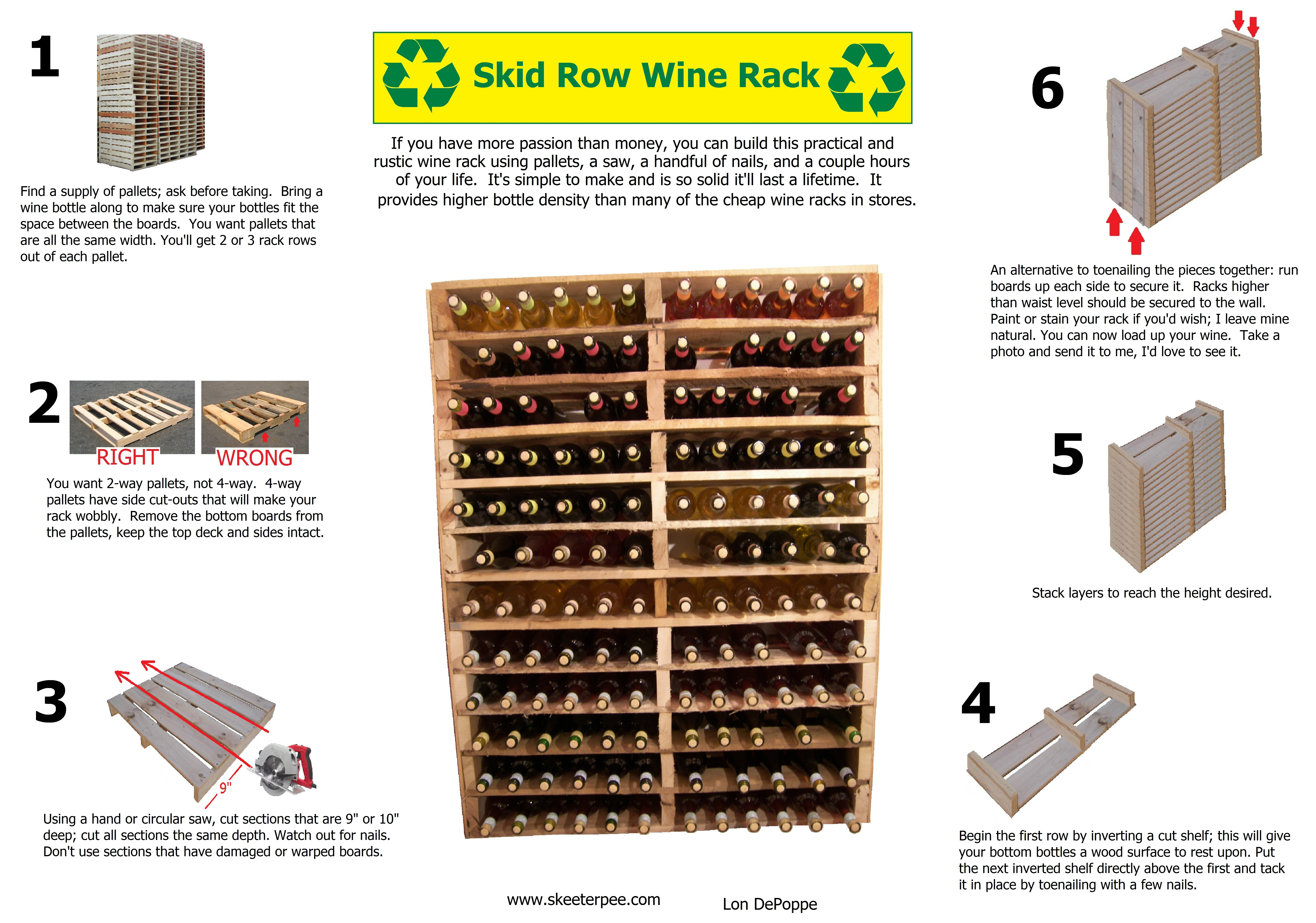 large wine rack plans