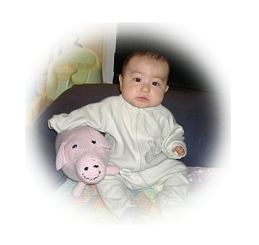 Matthew and his pig