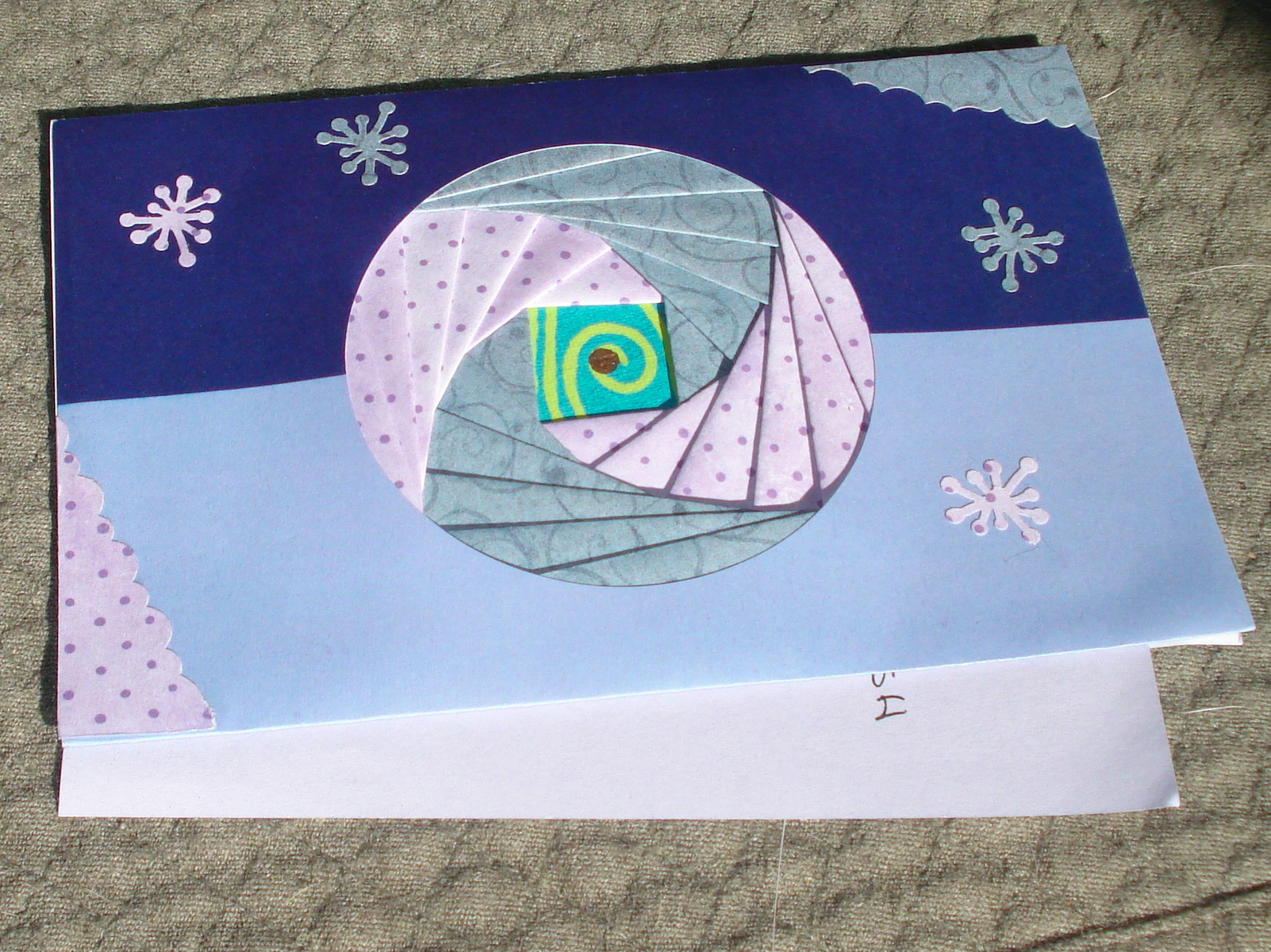 Diane's crafted card