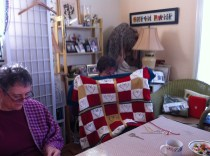 This is Terry's 7th or 8th Heart Inspired Afghan...in this case the baby is due in two weeks!