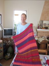 Maurie - Prayer Shawl with brilliant Brown Sheep Cotton Fleece