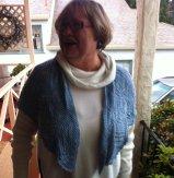 Jan and her beautfiul shawl