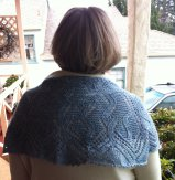 Another view of Jan's shawl