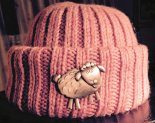Tower Cap with Lamb's Pride for cousin Louise