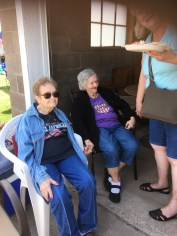 Aunt Orilla and Aunt Grace....first time they had seen each other in 4 or 5 years