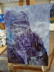This painting was done when I took a trip to England. It stands as a symbol of the huge mountain that laid ahead of me.