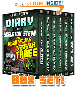Read Skeleton Steve the Noob Years FULL SEASON THREE (Books 13-18) NOW! Free Minecraft Book on KU!