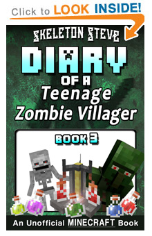 Read Diary of a Teenage Minecraft Zombie Villager Book 3 on Amazon Today! Free Minecraft Book on Kindle Unlimited!