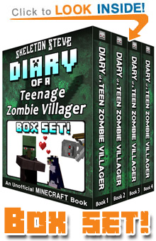 Diary of a Teenage Minecraft Zombie Villager! All FOUR Books in ONE! Click to Learn More...
