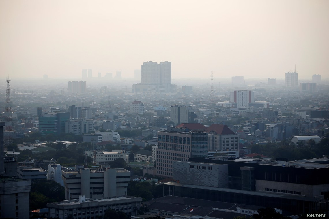 A general view of the capital city as smog covers it in Jakarta, Indonesia, July 4, 2019