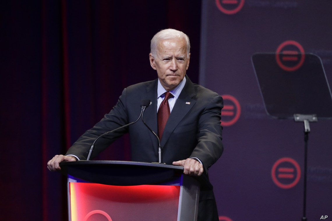 Democratic presidential candidate former Vice President Joe Biden, speaks during the National Urban League Conference, Thursday, July 25, 2019, in Indianapolis. (AP Photo/Darron Cummings)