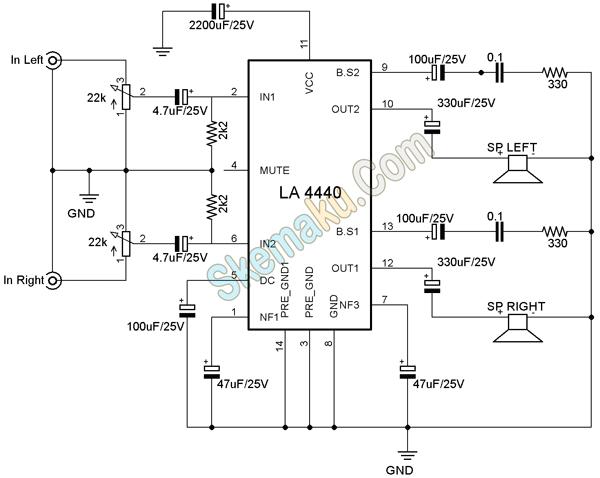 Skema amplifier la4440