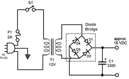 rangkaian power supply sederhana