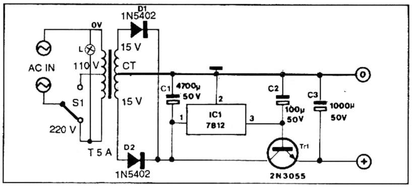 rangkaian power supply