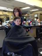 We all got haircuts that dat - Alex, David, Theo and me