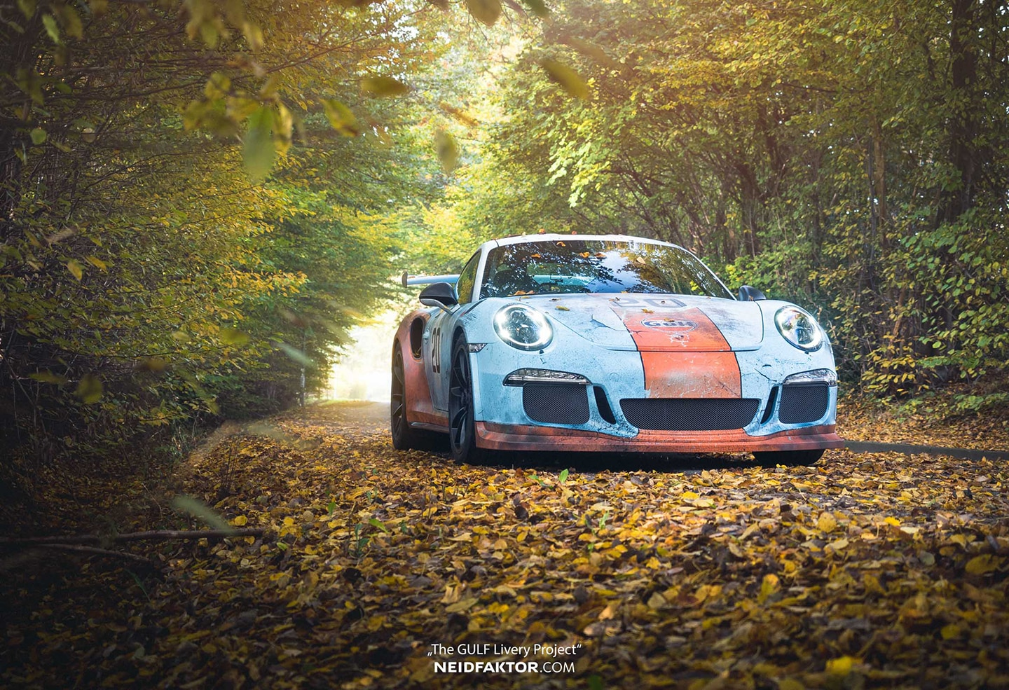 Leaves Wallpaper Fall Weathered Gulf Livery Porsche Gt3rs Skepple Inc