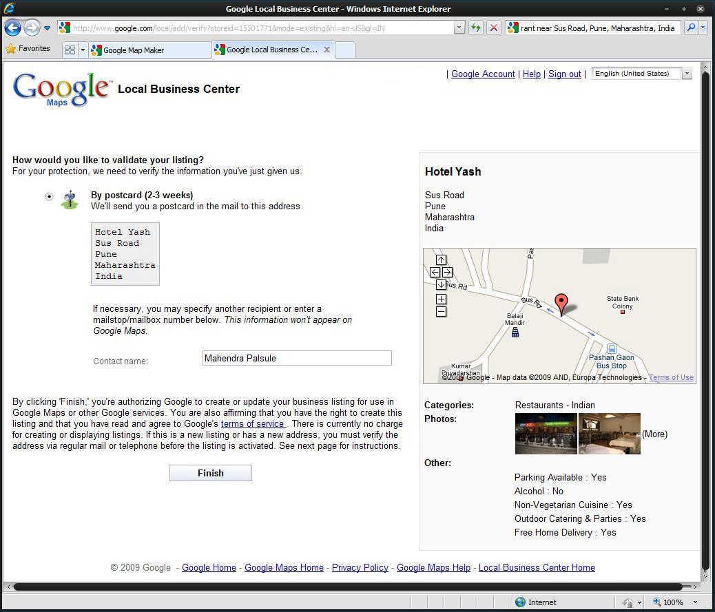 Adding My Restaurant in Google Maps | An Unquiet Mind on google building inside, google address form, google tracking, google local, google marketing,