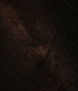 Skeptical Kitten site background - blurred stars