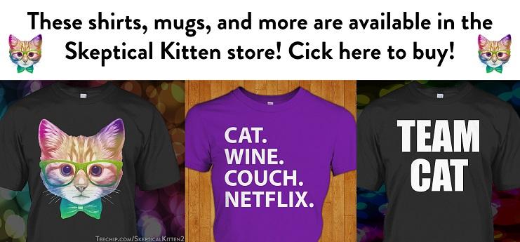 Skeptical kitten store promo 1