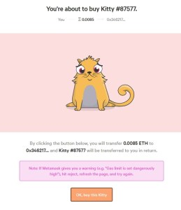 buying cryptokitties