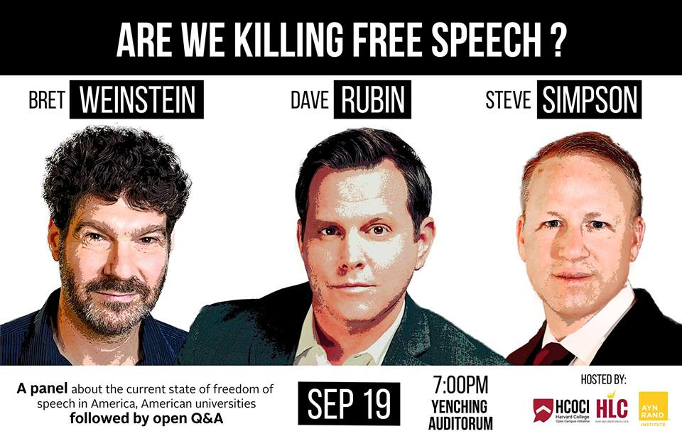 Are We Killing Free Speech? Livestream Link, Tuesday, September 19, 2017, 7 pm Eastern