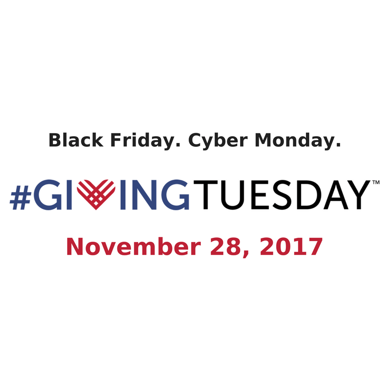 Giving Tuesday is November 28, 2017: Enters 6th Year
