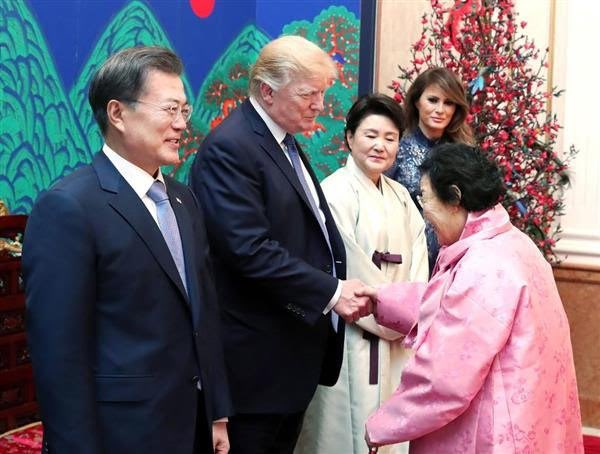 Comfort Woman Invited to Trump's State Dinner in S. Korea Causes Japanese Outrage